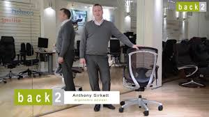 ergonomic mesh office chair contessa review by back2 youtube