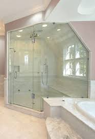 Angled Shower Doors Shower Doors For Angled Ceilings Door Panel Shower Doors