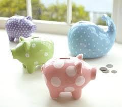 monogram piggy bank piggy bank collection pottery barn kids