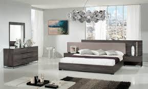 Grey And Oak Furniture Nova Domus Enzo Italian Modern Grey Oak U0026 Fabric Bed W Nightstands