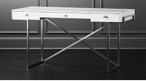 White High Gloss Computer Desk Avalon Hi Gloss White Desk In Office Furniture Reviews Cb2