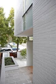 modern urban styled residence entrance showing neat setting of