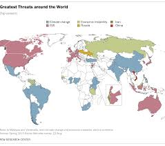 climate change seen as top global threat pew research center