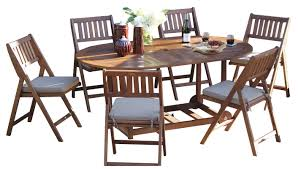 beachcrest home randwick 7 piece dining set with cushions