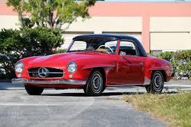 classic red mercedes 1955 mercedes 190sl palm beach classics