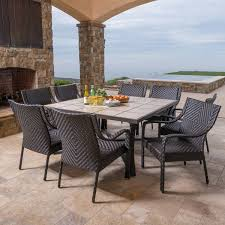9 Piece Wicker Patio Dining Set - canyon park 9 piece dining set by mission hills