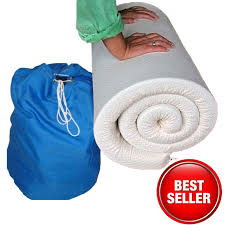 travel mattress images Memory foam travel mattress topper fabric cover and drawstring jpg