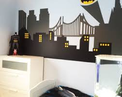 Batman Room Decor Wall Decal Gotham City Wall Decal By Stunningwalls