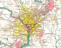 map of areas and surrounding areas detailed road map of washington d c and neighborhoods washington