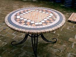 Mosaic Patio Table Top by Round Mosaic Table Top How To Renovate Your House With Mosaic