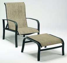 Patio Ottoman Aluminum Outdoor Patio Furniture Fremont Sling Adjustable Lounge