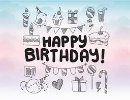 Birthday Card Ai Happy Birthday Card In Svg Eps Dxf Pdf Ai Png Birthday Greeting