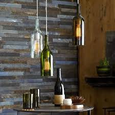 Wine Glass Pendant Light Repurposed Bottle Ls Wine Bottle Pendant Ls