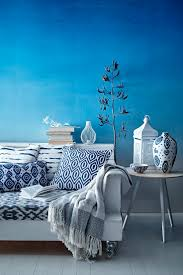Interior Blue Moraccan Decor Living Room Moroccan Bedroom Blue Curtain Style