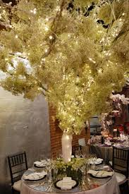 Baby S Breath Centerpiece Renny And Reed Created A Towering Tree Centerpiece Made Of Baby U0027s