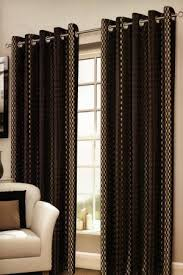 Brown Gold Curtains Cosmos Black Eyelet Curtains Harry Corry Limited
