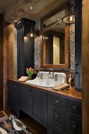 Rustic Bathroom Lighting Ideas Rustic Yet Refined Mountain Home Surrounded By Montana S