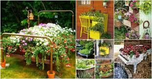 Bathtub Planter To Incorporate Old Furniture Into Your Garden Design