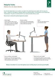Optimal Desk Height Pdf Downloads Posturite