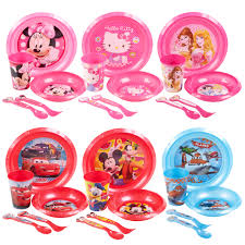 5 disney breakfast lunch dinner supper plate bowl cup