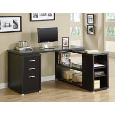 Home Office L Shaped Computer Desk Monarch 2 In 1 Cappuccino Office Suite I 7019 The Home Depot