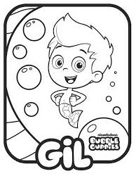 coloring print bubble guppies coloring pages model animal