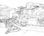 coloriage captain america dessin à imprimer gratuit