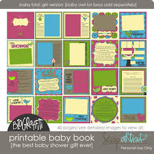 baby book ideas printable baby book giveaway simple scrapper