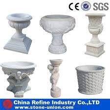Classic Vases Classic White Marble Stone Planters White Marble Carved Flower Pot