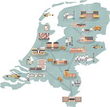 map netherlands map of hospitals in the netherlands on behance
