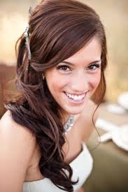 wedding hairstyles ideas side ponytail front braided curly half