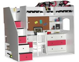Full Size Loft Bed With Stairs Home Design Styles - Full size bunk bed with desk