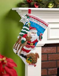 bucilla felt kits bucilla nordic santa christmas felt applique kit 86647