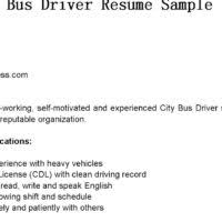 excellent bus driver resume sample for your inspirations expozzer