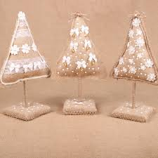 christmas tree ornament rustic christmas decor fabric ornaments