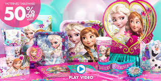 frozen party supplies a simply unforgetable party shop