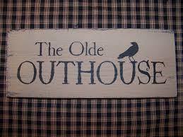 Primitive Country Bathroom Ideas Primitive Images Free Primitive The Olde Outhouse Wood Sign Crow