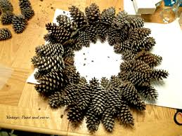 pinecone wreath pine cone wreath tutorial vintage paint and more