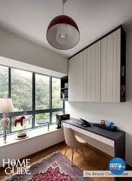 Contemporary Modern Design Study Room Condominium Design by Home Guide Design &