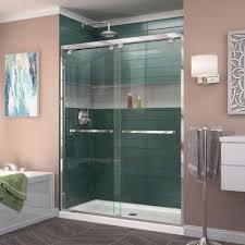 Frameless Shower Doors Miami Vigo Clear And Chrome Frameless Shower Door 48 Inch 3 8 Glass In