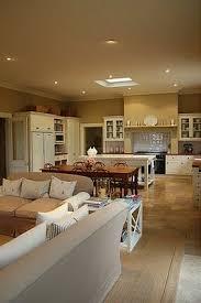 kitchen and dining room open floor plan best 25 farm style open plan kitchens ideas on open