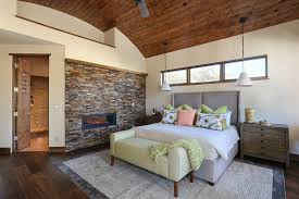 Clearstory Windows Decor Faux Brick Panels Bedroom Rustic With Barrel Vault Ceiling Ceiling