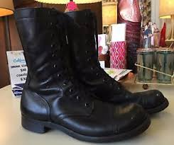 buy s boots size 11 pair of s panco black leather combat boots size