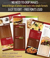 25 best hotel u0026 restaurant menu designs design dazzlingdesign