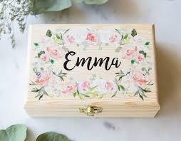 Girls Personalized Jewelry Box Flower Or Bridesmaids Gift Box Jewelry Box Personalized