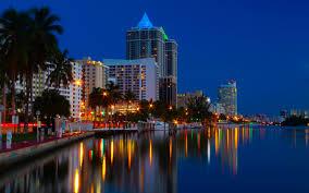 imagenes miami de noche fondos de pantalla 2560x1600 ee uu casa ríos costa miami noche