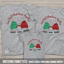 first christmas shirt set daddy mommy baby bear 1st christmas