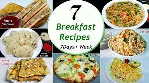 7 breakfast recipes 7 days week breakfast recipes simple