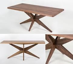 tables better living through design starfish table walnut desk work better living through design