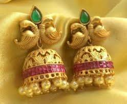 antique gold jhumka earrings antique gold jewelry in hyderabad telangana manufacturers